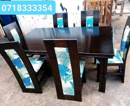 Beautiful Contemporary Quality 6 Seater Dining Table image 1