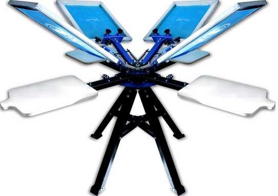4 Color 4 Station Screen Printing Press machine image 1