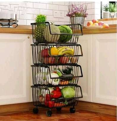 *Metallic 4tier vegetable rack image 3