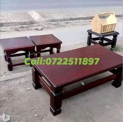Coffee  Table☕ with four stools image 2