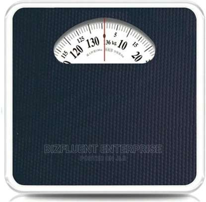 Analog Body Weight Scale, Mechanical Rotary Dial, Non-slip image 1