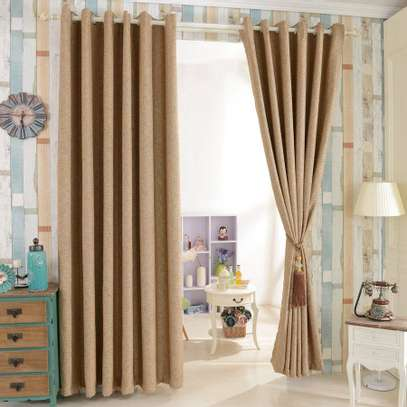 Cream Linen Curtain image 1
