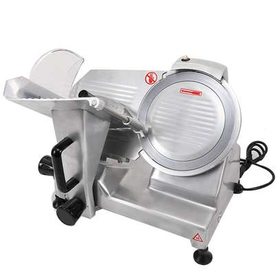 10″ inch Stainless Steel Electric Meat Slicer Premium Chromium-plated Carbon Steel Blade, Home Kitchen Deli Meat Food Vegetable Cheese Cutter, Commercial Coffee Shop/restaurant and Home Use 240W Low Noises image 1