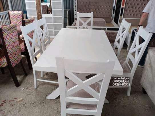 Modern six seater dining set/dining set/dining chairs/dining tables image 2