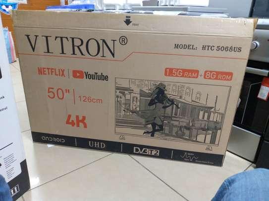 Vitron 50inch 4k Android frameless UHD tv 1.5GB RAM image 1