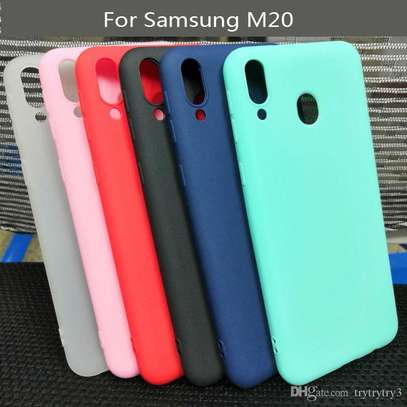 Silicone case with Soft Touch for Samsung M30 M20 M10 image 4