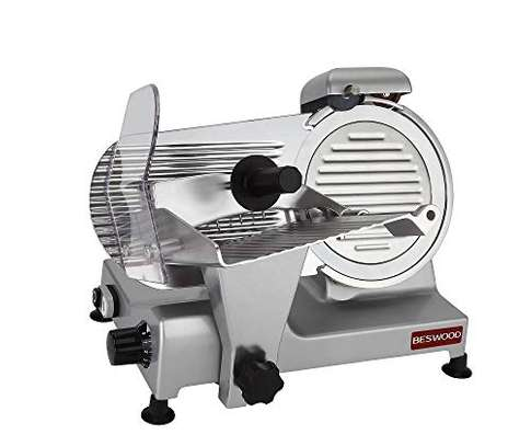 """Food and Meat Slicer 10"""" Blade Big Sliced Meat Exit Behind the Machine for Slice Meat Sliding Out Quickly image 3"""