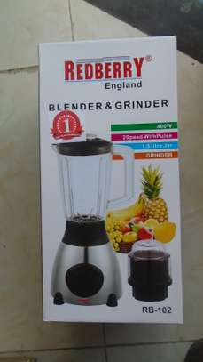 2 in 1 Blender with Grindinder redberry