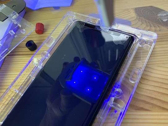 UV Privacy Anti-Spy Anti-Peep NANO Liquid Full Glue Tempered Glass For Samsung Note 9 Note 8 image 8