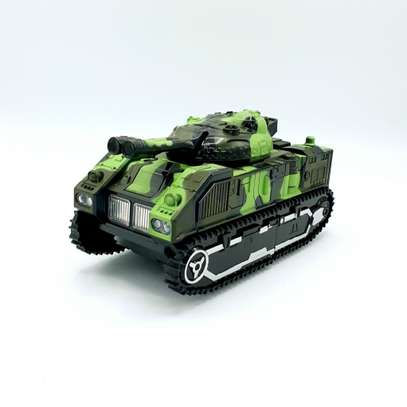 Kids Battery Operated Army Tanker Transformer Robot Toy image 3
