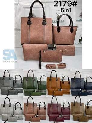 Fancy 5 in 1 Leather Handbags image 4