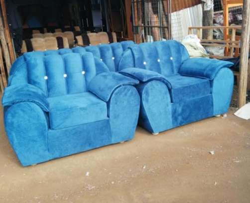 5seater blue pined sofa image 1