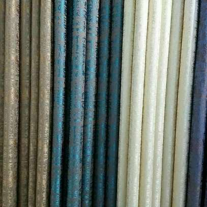 Blue and brown  curtains