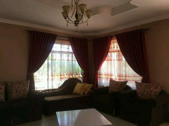 Maron plain curtains