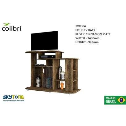 Colibri FICUS TV STAND RACK- RUSTIC CINNAMON MATT - 32 Inch TV Space image 2