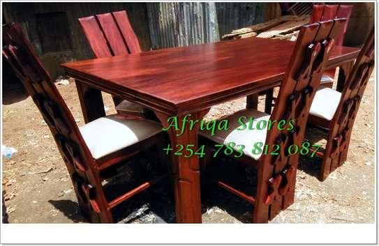 Mahogany dining table image 8