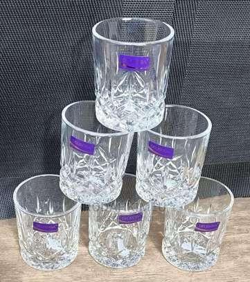 Short Crystal Whiskey Glasses image 1