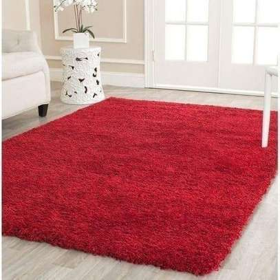 RED Beautiful Fluffy Carpet 7*10 image 1