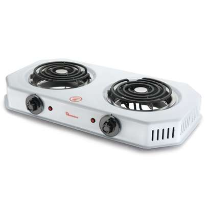 RAMTONS SPIRAL PLATE COOKER 2 BURNER WHITE- RM/253 image 1