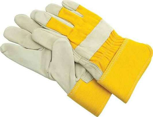 Leather Gloves For Construction And Welding image 1