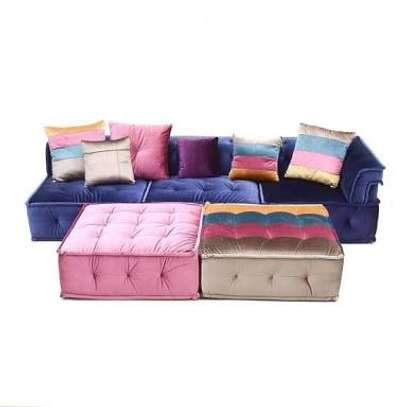 Multicolored fabrics sofas image 2