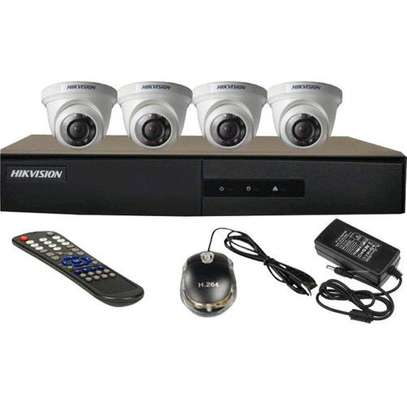 """HIKVision AHD 720P 4 Channel DVR 500GB HDD 4x AHD Cameras Dome Day/night vision All Weather 15"""" TFT Monitor CCTV Kit image 3"""
