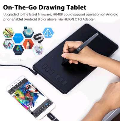 HUION H640P Graphics Pen Tablet with Battery-Free Pen image 4