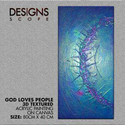 GOD LOVES PEOPLE CANVAS PAINT