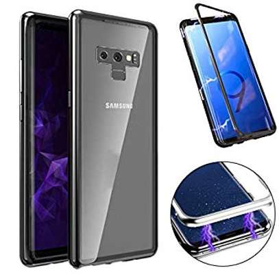 Magnetic Luxury Absorption Cases For Samsung Note 9 Clear Back Glass image 2