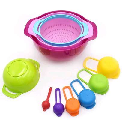 10pcs Mixing Bowl and Measuring cups image 1