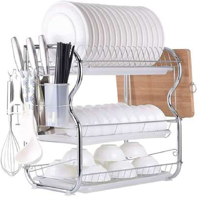 Generic 3Tier Stainless Steel Dish Drainer Dry Rack image 3