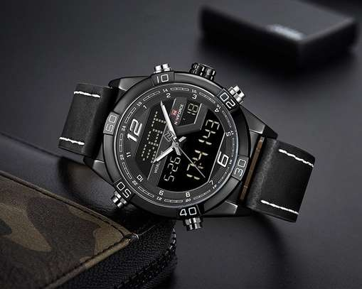 Naviforce NF9128 Top Brand Men Fashion Sport Leather  Watch image 2