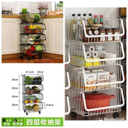 4 tier mettalic vegetable/multipurpose organizer image 1