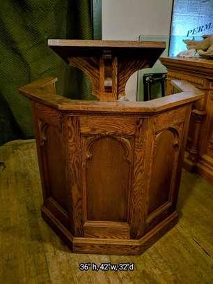 Church Mahogany Pulpits pedestals image 4