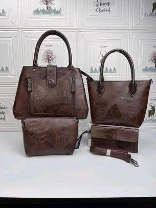 Dark brown designer handbags image 2