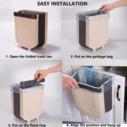 Expandable and collapsible dustbin over the shelf image 2