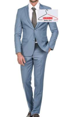 Light grey slim fit suits
