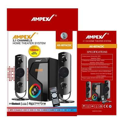 Ampex AX607 Subwoofer System 10000watts PMPO, Bluetooth,USB,SD/FM