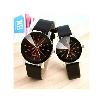 Quartz Best Couple Watches Office Dial Leather Watch image 1