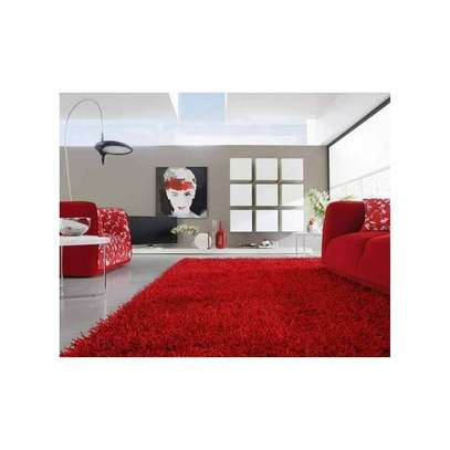 fluffy carpet-red 7by8 image 1