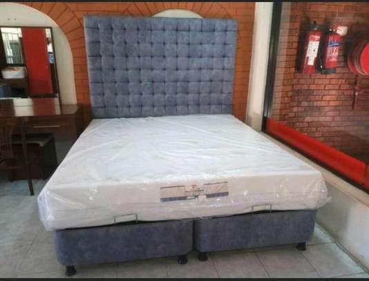 Pocket spring Queen size orthopaedic mattress and its matching storage divan and nice headboard free delivery