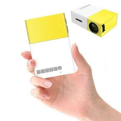 LED Mini Home Projector  - yellow & white image 2