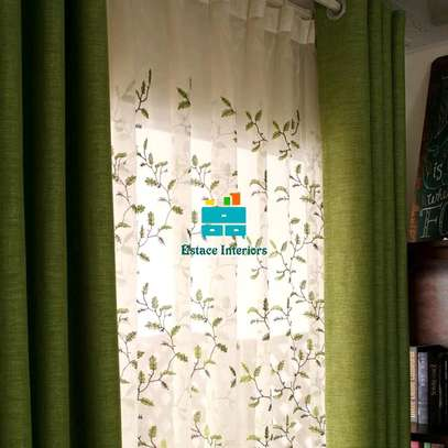 Curtains with beautiful printed sheers image 2