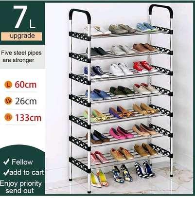 Multilayered shoe rack image 1