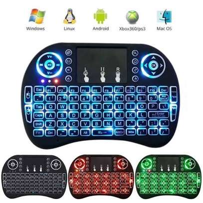Backlit Mini Wireless Keyboard with Touchpad and Multimedia Keys for Android Tv Box Smart Tv PS3 PS4 XBOX360