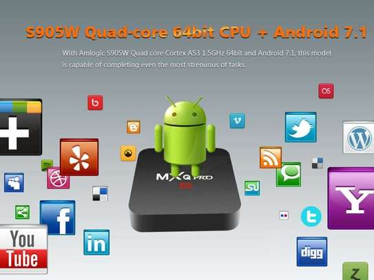 MXQ Pro 4K Android Smart TV Media Box for Movies, Series and Live TV image 5