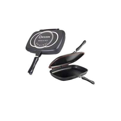 Non-Stick Double Side Grill Pan - Black