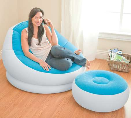 Intex Inflatable Seat (Blue&white) With footrest