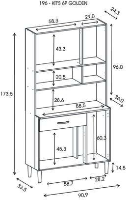 Kitchen Cabinet with 6 Doors - Kits Parana image 8