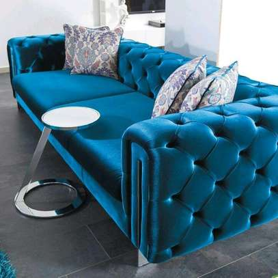 Modern three seater sofa designs/Blue chesterfield sofa ideas,designs and inspo kenya/Furniture Kenya/Best Furniture manufacturers in Nairobi Kenya/Latest sofa designs image 1
